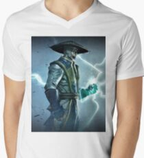 Raiden, Mortal Kombat Men's V-Neck T-Shirt
