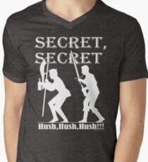 Camiseta para hombre de cuello en v Galavant - misión secreta