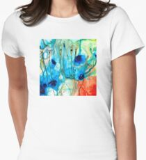 Unique Art - A Touch Of Red - Sharon Cummings Womens Fitted T-Shirt