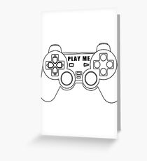 Video game - Play Me PS3 Black Greeting Card