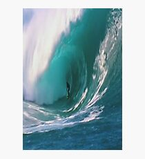 Surfer Tunnel Riding  Photographic Print
