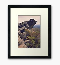 Rocky Bluffs high in the Blue Ridge Mountains Framed Print