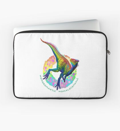 Homoromantic Homalocephale (with text)  Laptop Sleeve