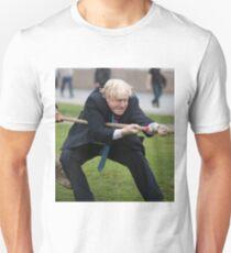 Boris Johnson grits his teeth during tug of war Unisex T-Shirt