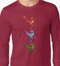 Pokesaurs - Dromaeosaurus Starterus Long Sleeve T-Shirt