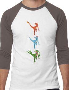 Pokesaurs - Dromaeosaurus Starterus Men's Baseball ¾ T-Shirt