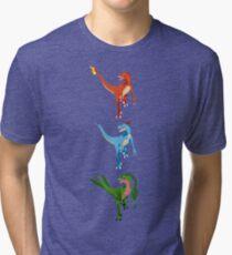 Pokesaurs - Dromaeosaurus Starterus Tri-blend T-Shirt
