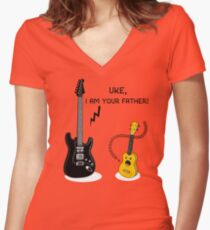 Uke, I am your Father! Women's Fitted V-Neck T-Shirt