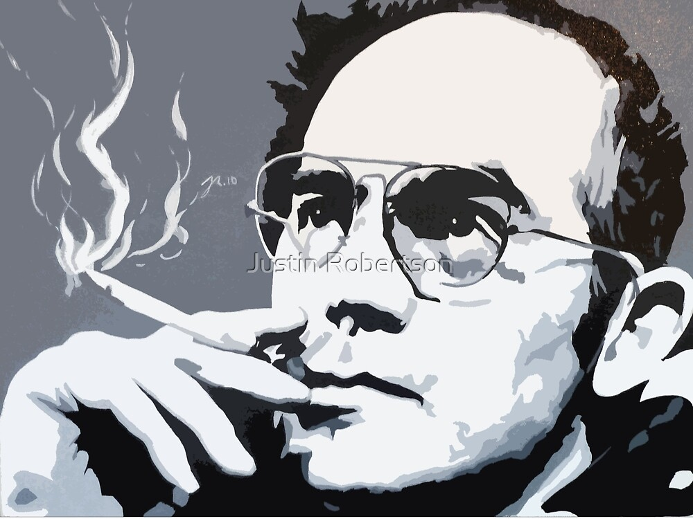 Hunter S Thompson by thepurposemaker