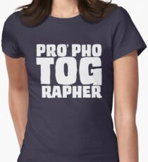 PRO phoTOGrapher Womens Fitted T-Shirt