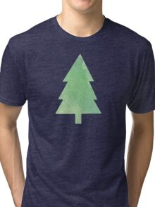 Simple Pine Tree Forest Pattern Tri-blend T-Shirt