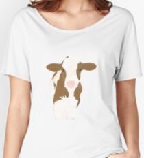 Watercolour Cow Women's Relaxed Fit T-Shirt