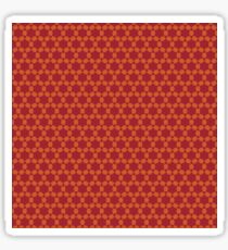 Geometric brown abstract pattern Sticker