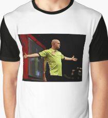 Michael Van Gerwen Darts World Champion Oil Effect Graphic T-Shirt