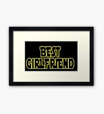 STAR WARS ~ Best girlfriend Framed Print