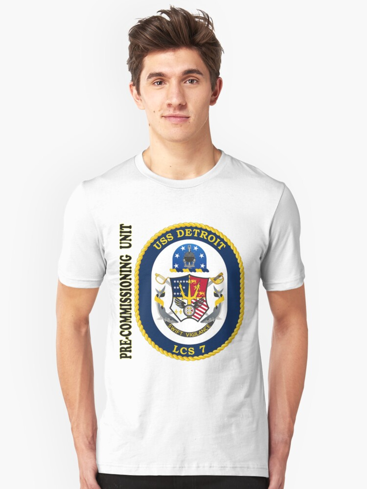 'LCS-7 USS Detroit Pre-Commissioning Unit' T-Shirt by MGR Productions Nikki