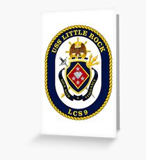 LCS-9 USS Little Rock Greeting Card