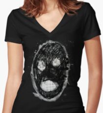 Clanky Man Women's Fitted V-Neck T-Shirt