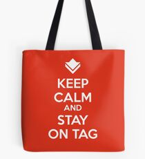 Guild Wars - Keep Calm and Stay on Tag Tote Bag