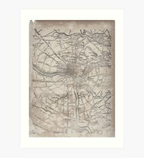 Civil War Maps 1945 Civil War proof maps United States Art Print