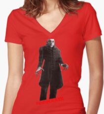 Nosferatu day Women's Fitted V-Neck T-Shirt