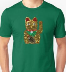 gold maneki neko cat T-Shirt