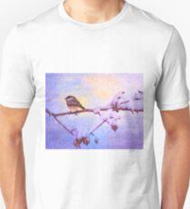 Black Cap Chickadee Winter Twilight Unisex T-Shirt