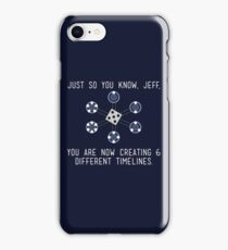 Community: Different Timelines iPhone Case/Skin