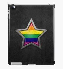 Vinilo o funda para iPad Bandera del arco iris dentro de una estrella envejecida y rayado