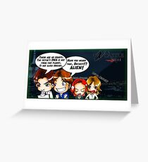 X Castle Files (background) Greeting Card