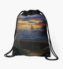 A Serenity of Still and Exquisite Brilliance Drawstring Bag