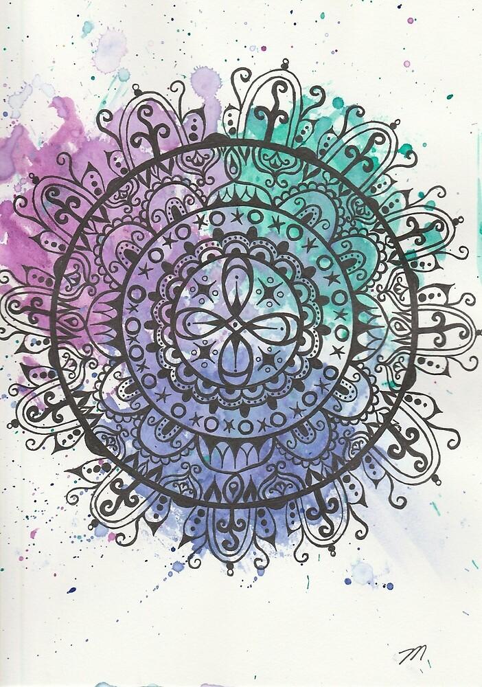 Splatter Mandala by MissTariana