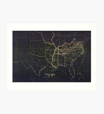 Civil War Maps 0279 Civil War 1861-1865 Art Print