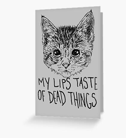 Morbid Kitten Greeting Card