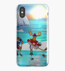 Arctic Hockey Sunset iPhone Case
