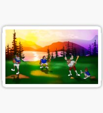 Baseball Sunset Sticker