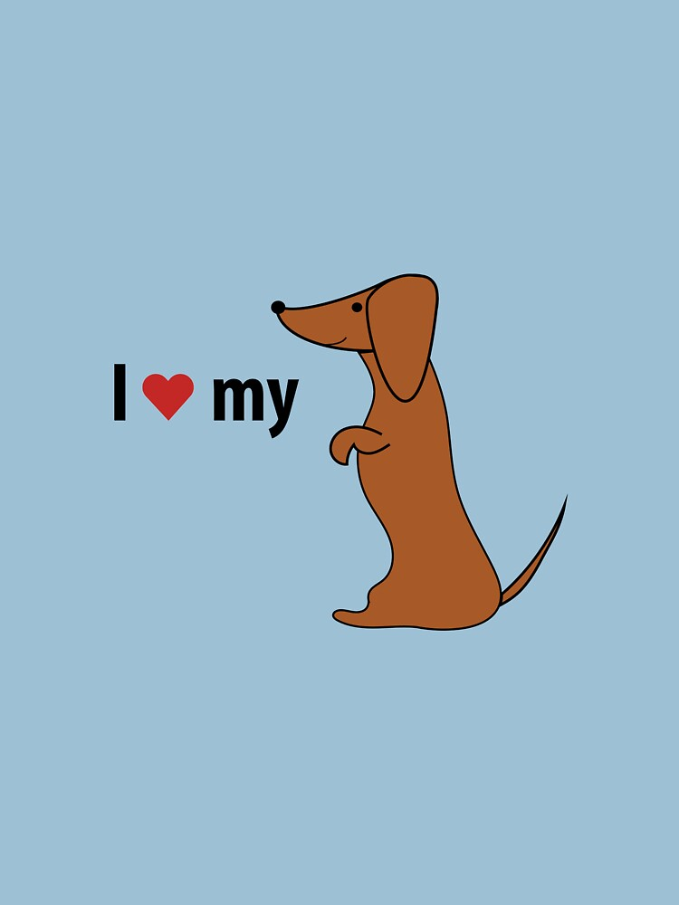 I love my dachshund by longdogswa