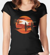 Ride of the Tie fighters Women's Fitted Scoop T-Shirt
