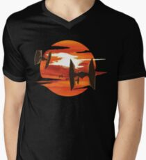 Ride of the Tie fighters Men's V-Neck T-Shirt
