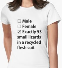 No Gender, Only Lizards Women's Fitted T-Shirt