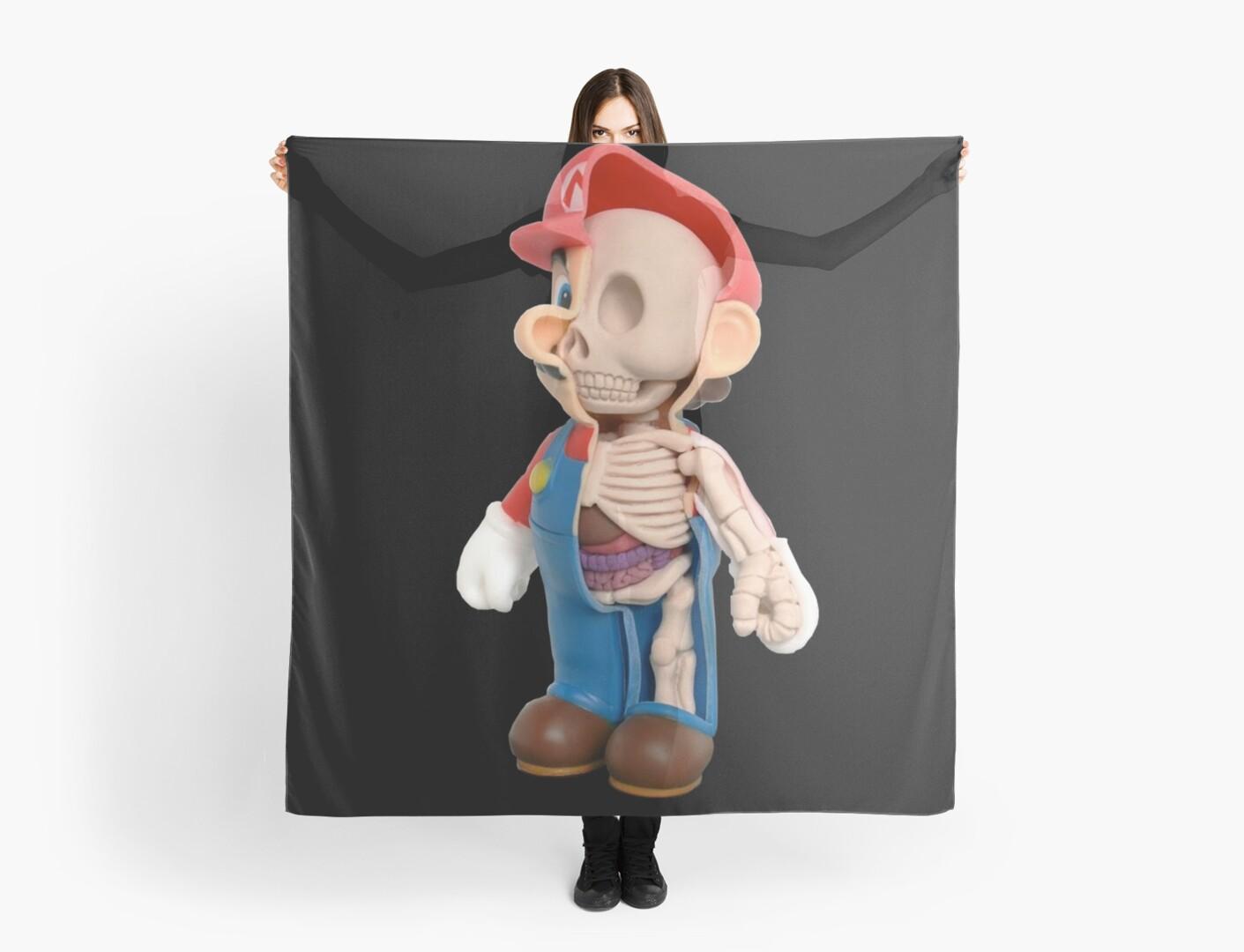 Pañuelos «Súper mario anatomía» de Cristianvan | Redbubble