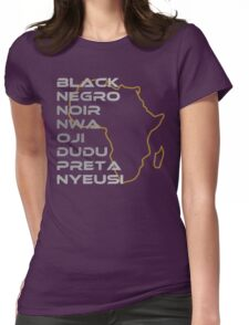 BLACK in Every Language Womens Fitted T-Shirt