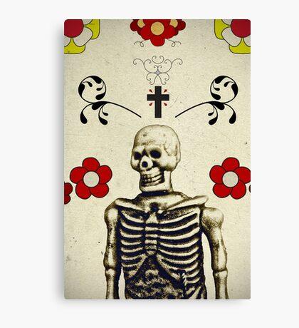 floral skeleton Canvas Print