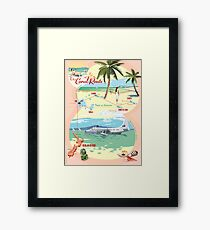 The Coral Route -  Framed Print