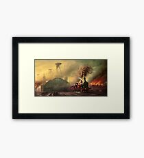 The fall of London Framed Print