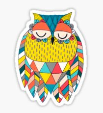 Aztec Owl Illustration Sticker