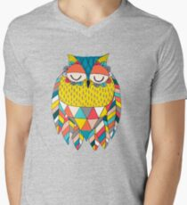 Aztec Owl Illustration Men's V-Neck T-Shirt
