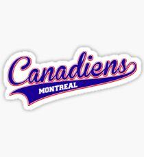Canadiens blue script Sticker