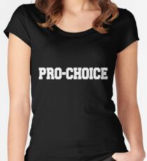 Pro-choice Women's Fitted Scoop T-Shirt