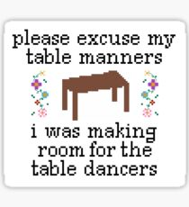 Drake Table Manners Sticker
